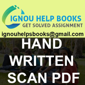 Ignou solved Hand Written Assignments